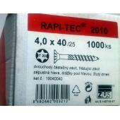 Stavební vruty Rapi-tec 2010 4x40 mm