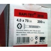 Stavební vruty Rapi-tec 2010 4x70 mm