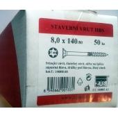 Stavební vruty Rapi-tec HBS 8x140 mm