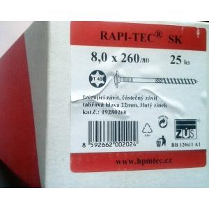 Stavební vruty Rapi-tec SK 8x260 mm