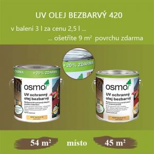 UV ochranný olej bezbarvý se slevou 20%