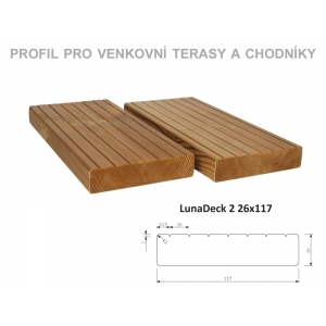 Thermowood borovice LunaDeck 2 26 x 117mm
