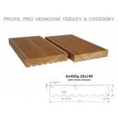 Thermowood borovice AntiSlip 26 x 140mm zadní strana rýhovaná
