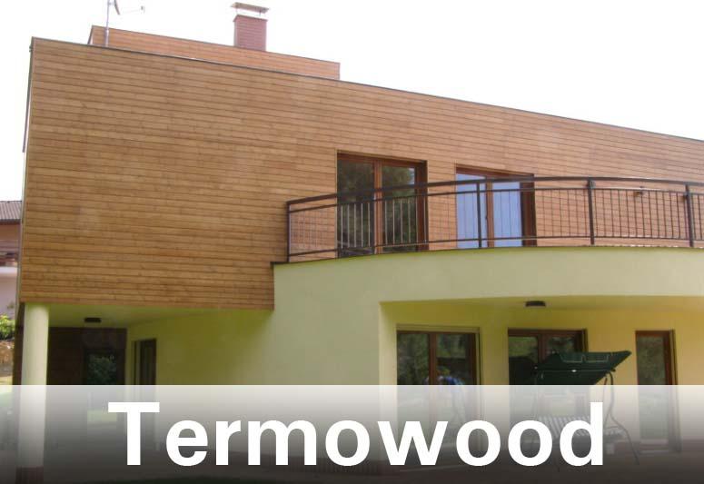 Dřevěná fasáda z termowoodu